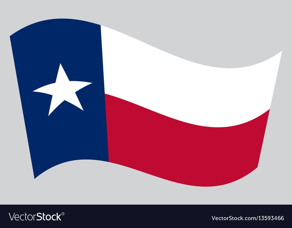 flag of texas waving on gray background royalty free vector rh vectorstock com texas flag vector art free texas flag vector free