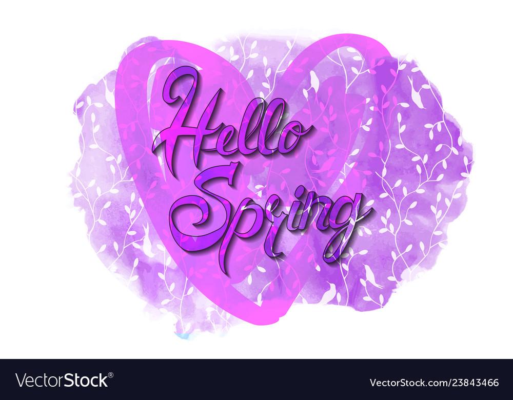 Hello spring card template