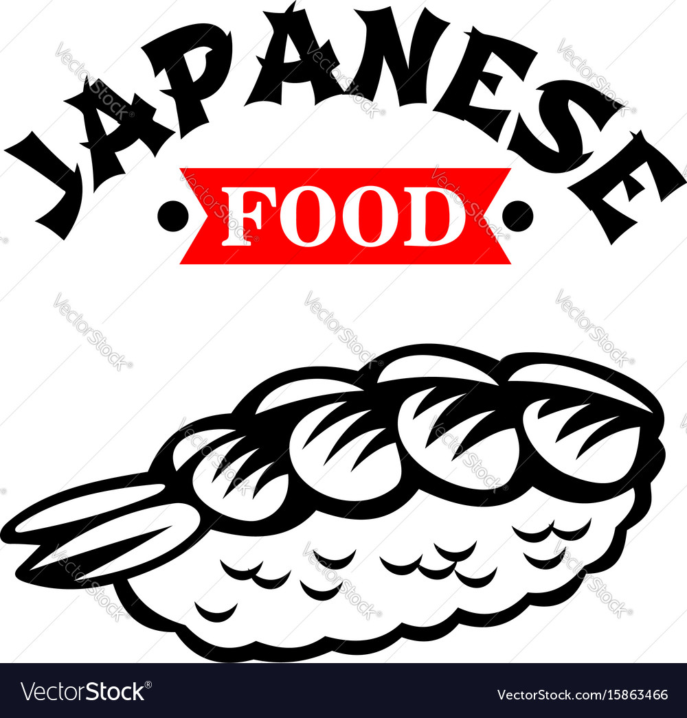Japanese food cuisine restaurant sushi icon vector image