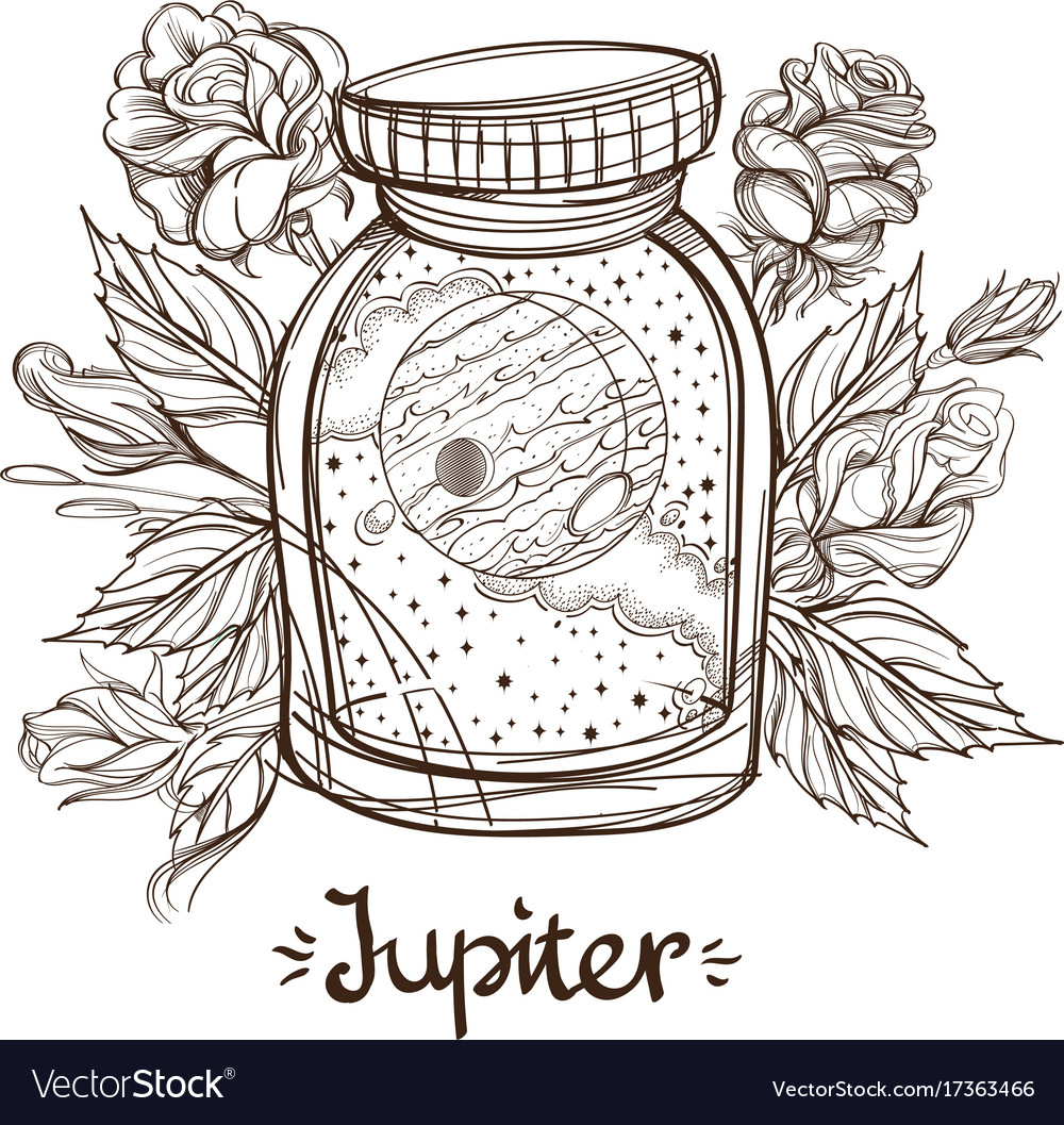 Jupiter in a glass jar the planet of the solar