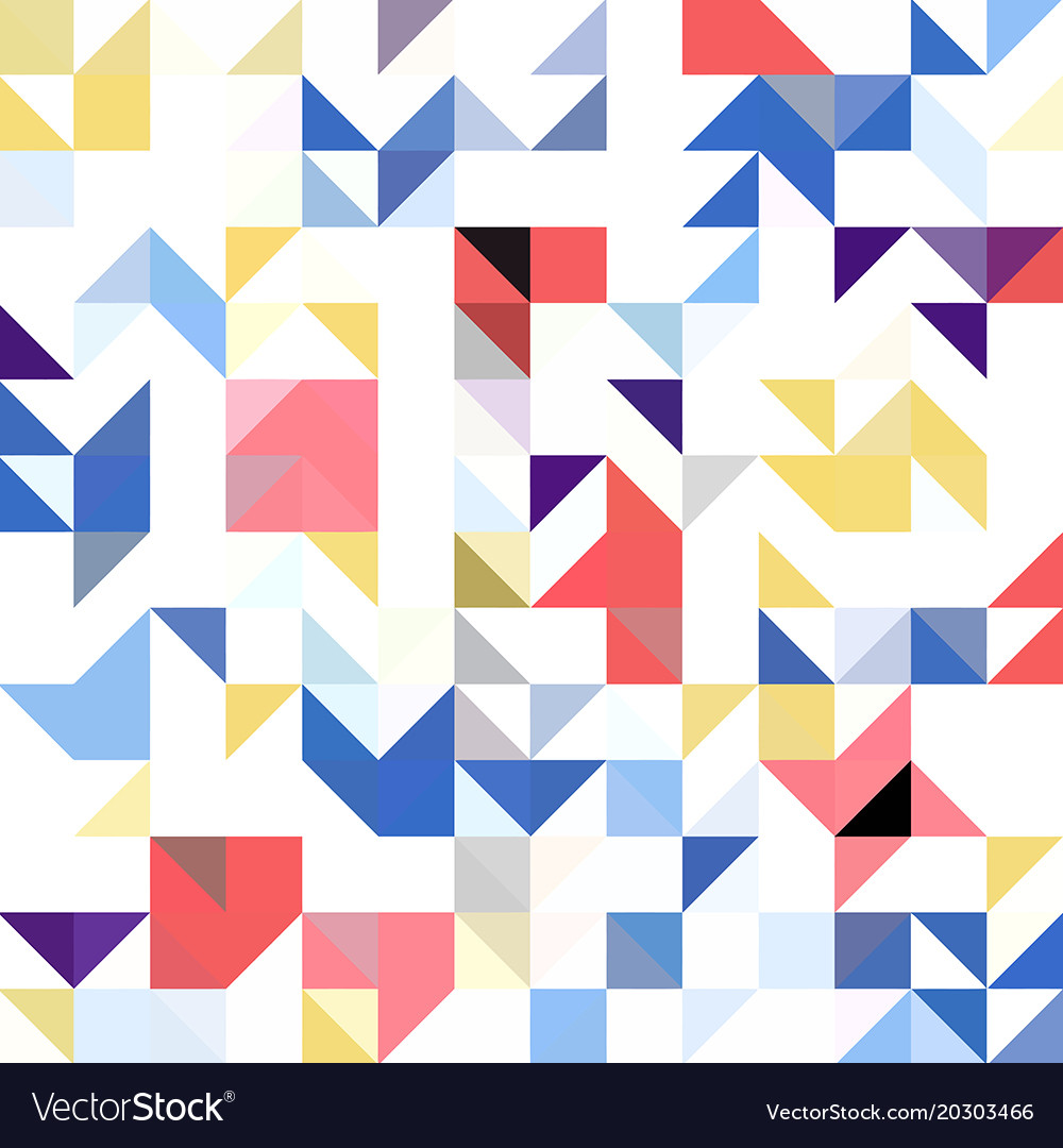 Triangle geometric shapes pattern