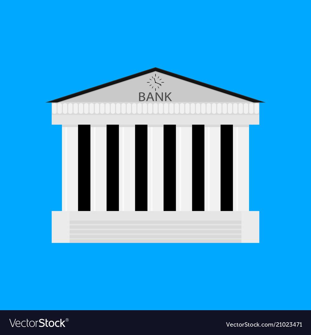 Bank buildiing isolated