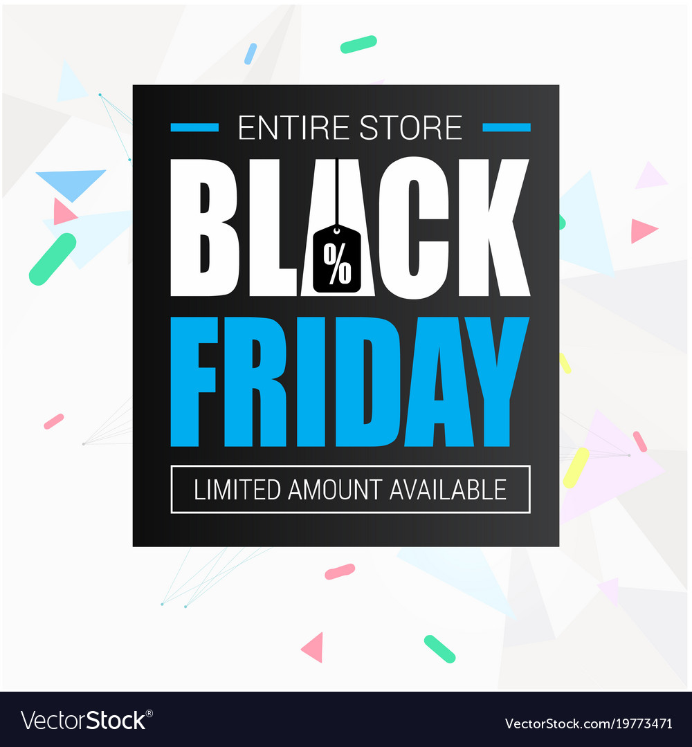 Banner entire store black friday image