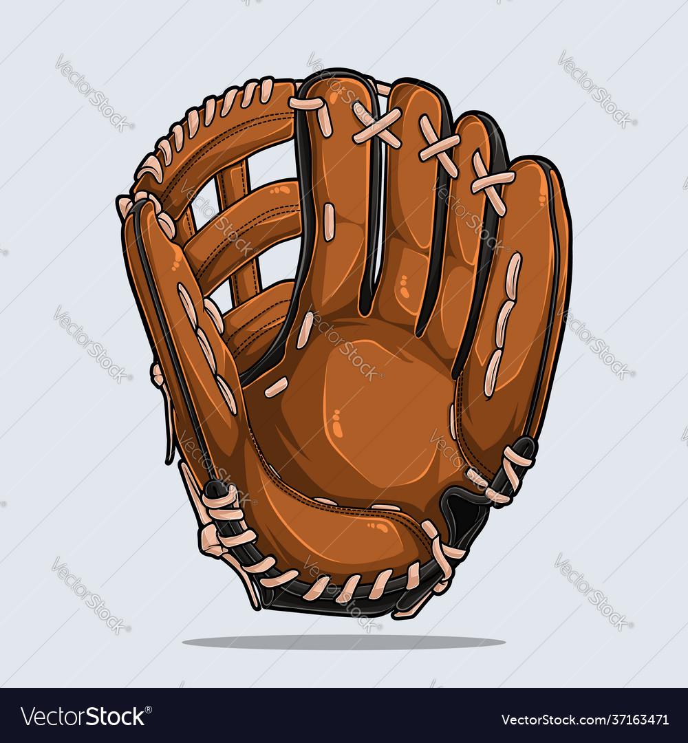 Baseball glove isolated baseball equipment
