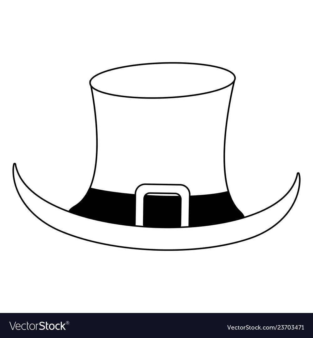 1412347b902 Elf hat cartoon isolated black and white Vector Image