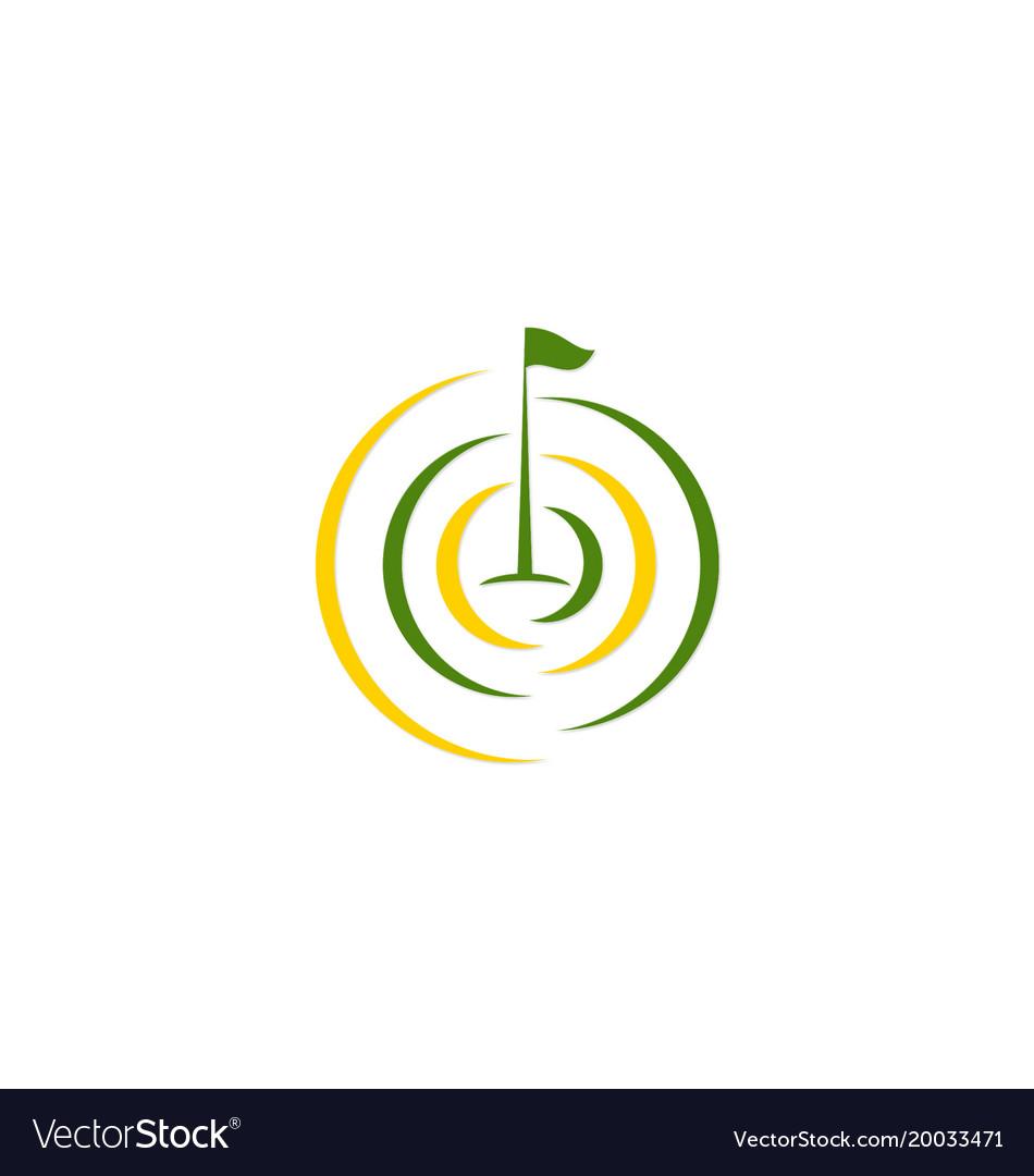 Golf flag tournament logo