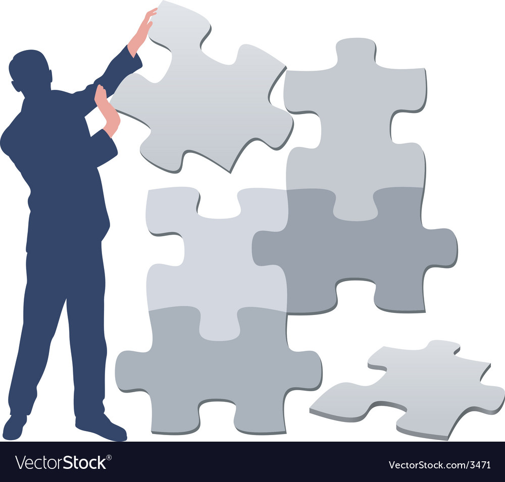 Jigsaw Puzzle Pieces Background Vector Image