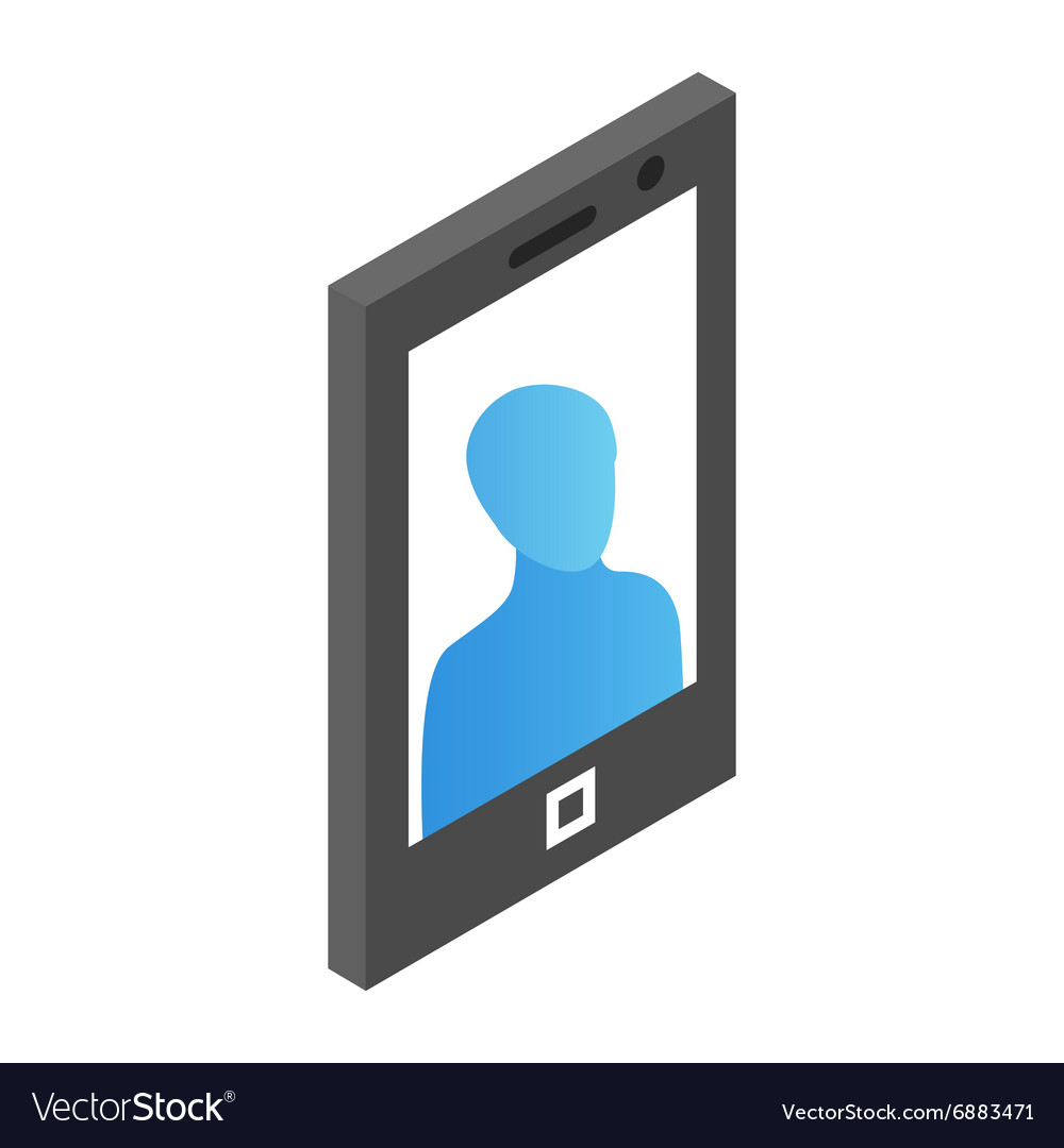 Mobile phone isometric 3d icon vector image