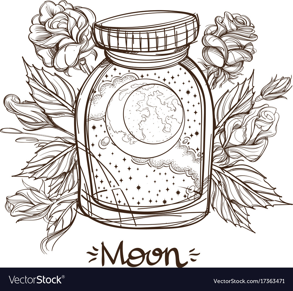 Moon in a glass jar the planet of the solar