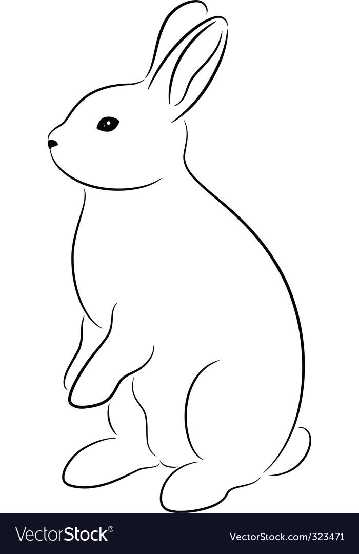 rabbit royalty free vector image vectorstock rh vectorstock com rabbit vector ai free download rabbit vector free download