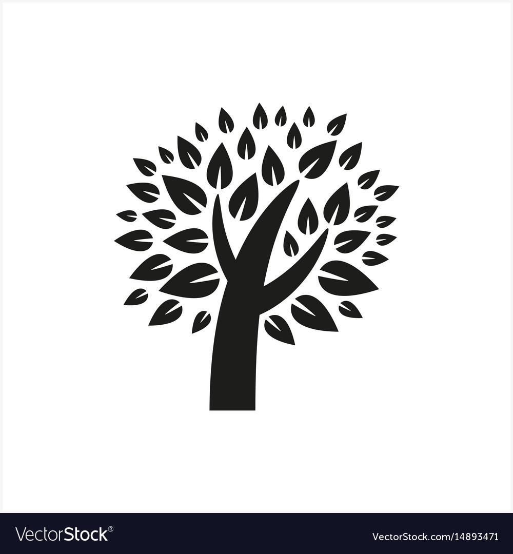 Simple minimal black tree icon symbol style