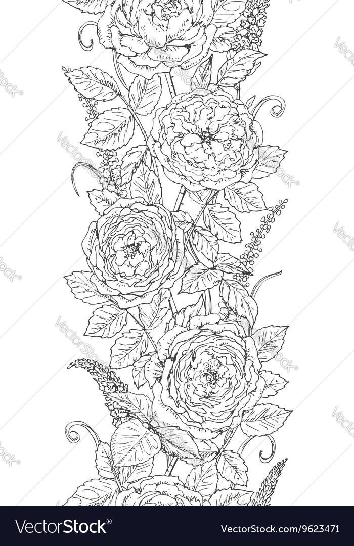 Tea rose pattern