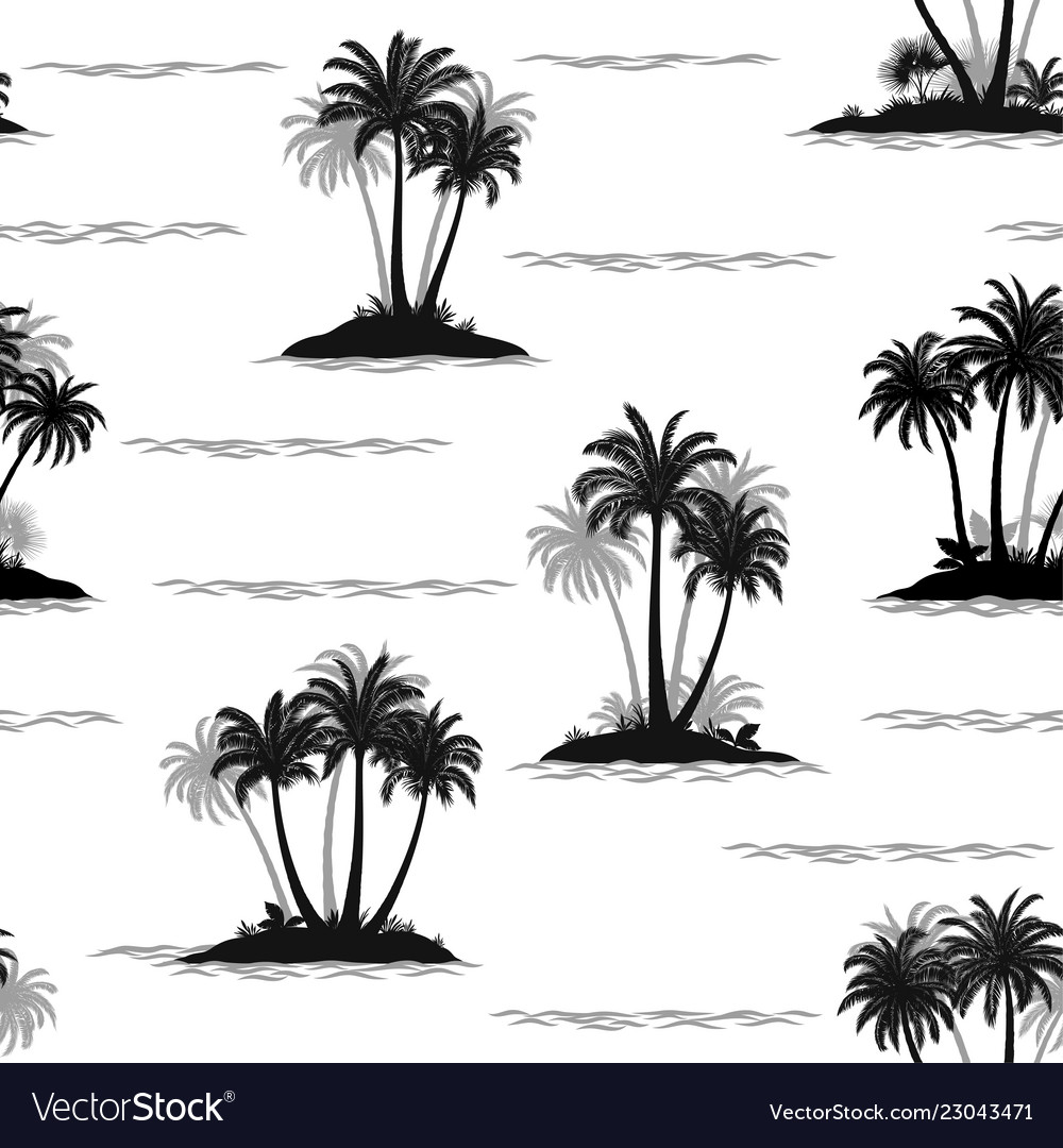 Tropical palms seamless