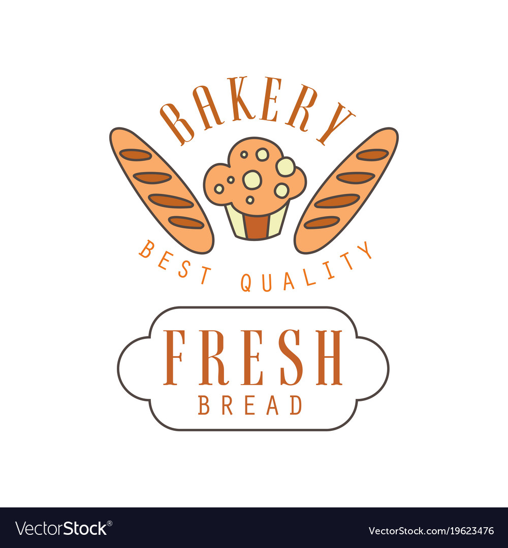 Bakery best quality fresh bread logo template vector image