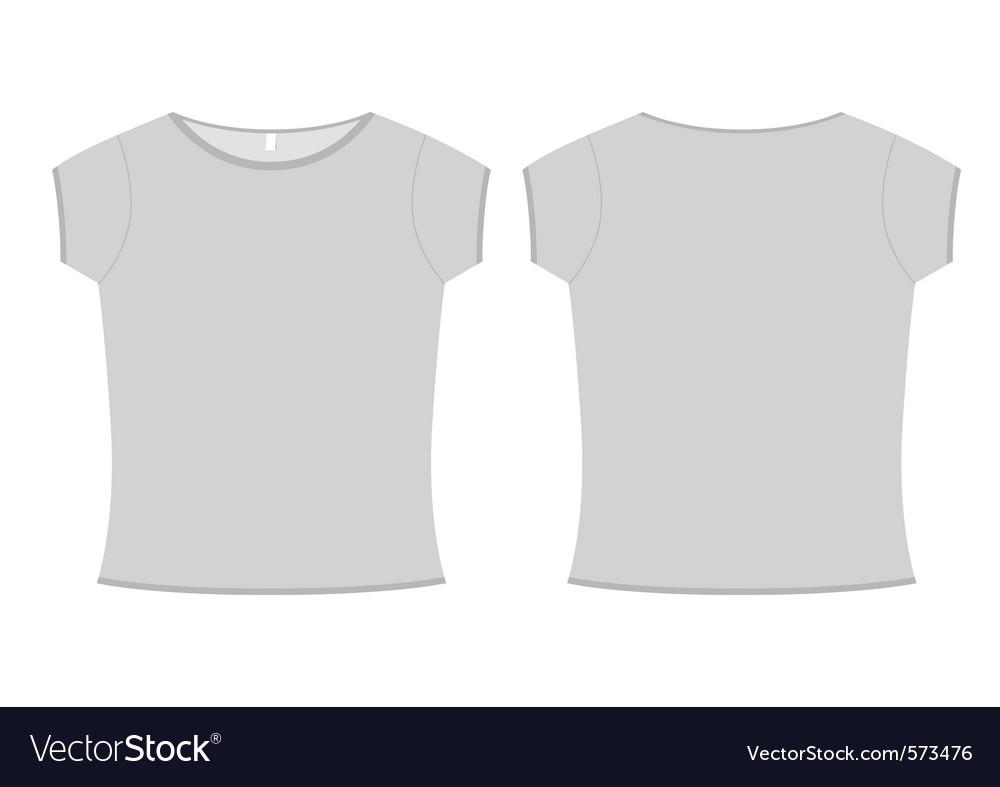 Basic ladies tshirt template