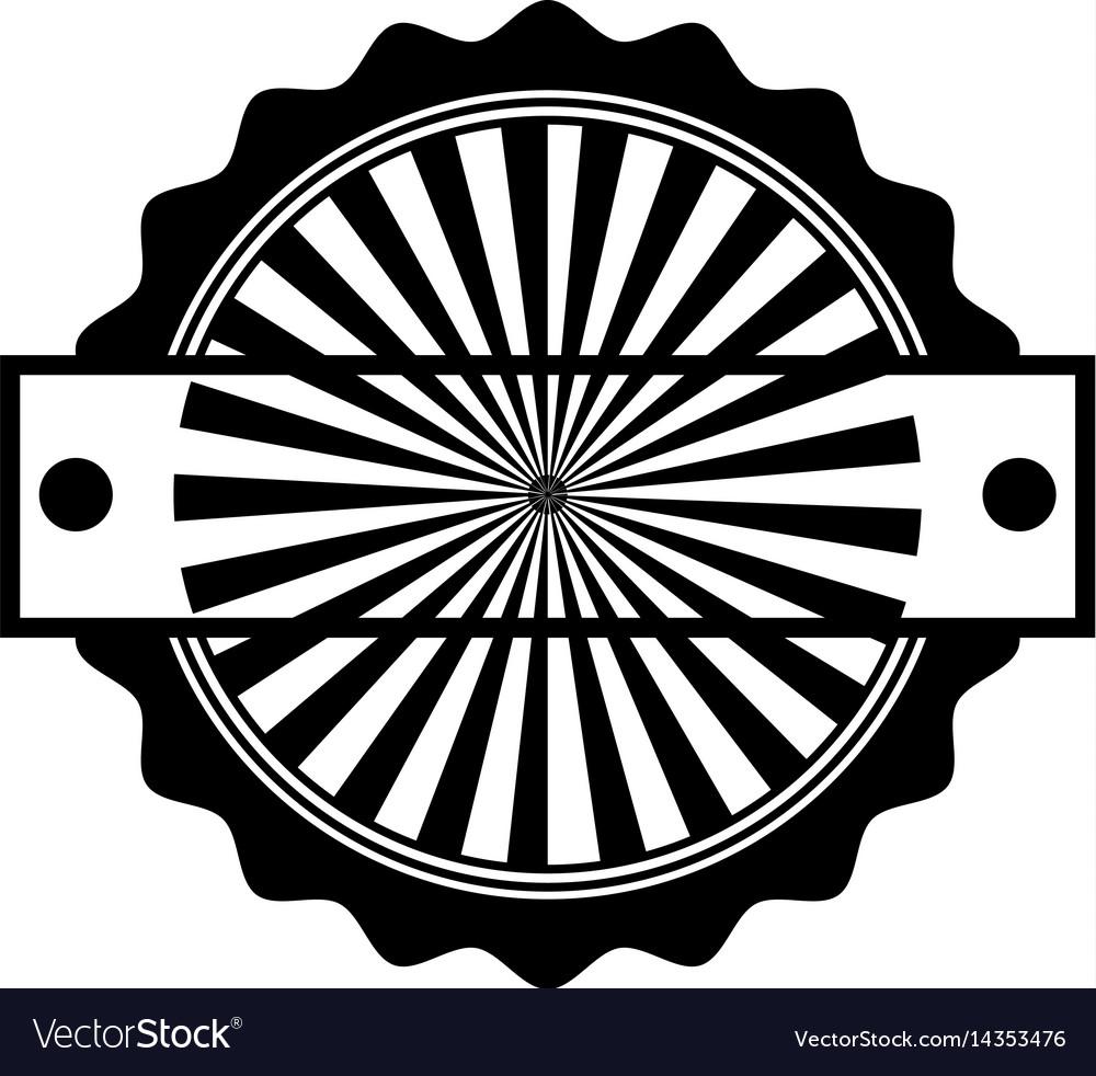 Circle seal stamp frame