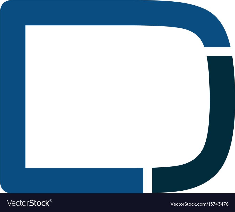 Dj modern business letter logo design