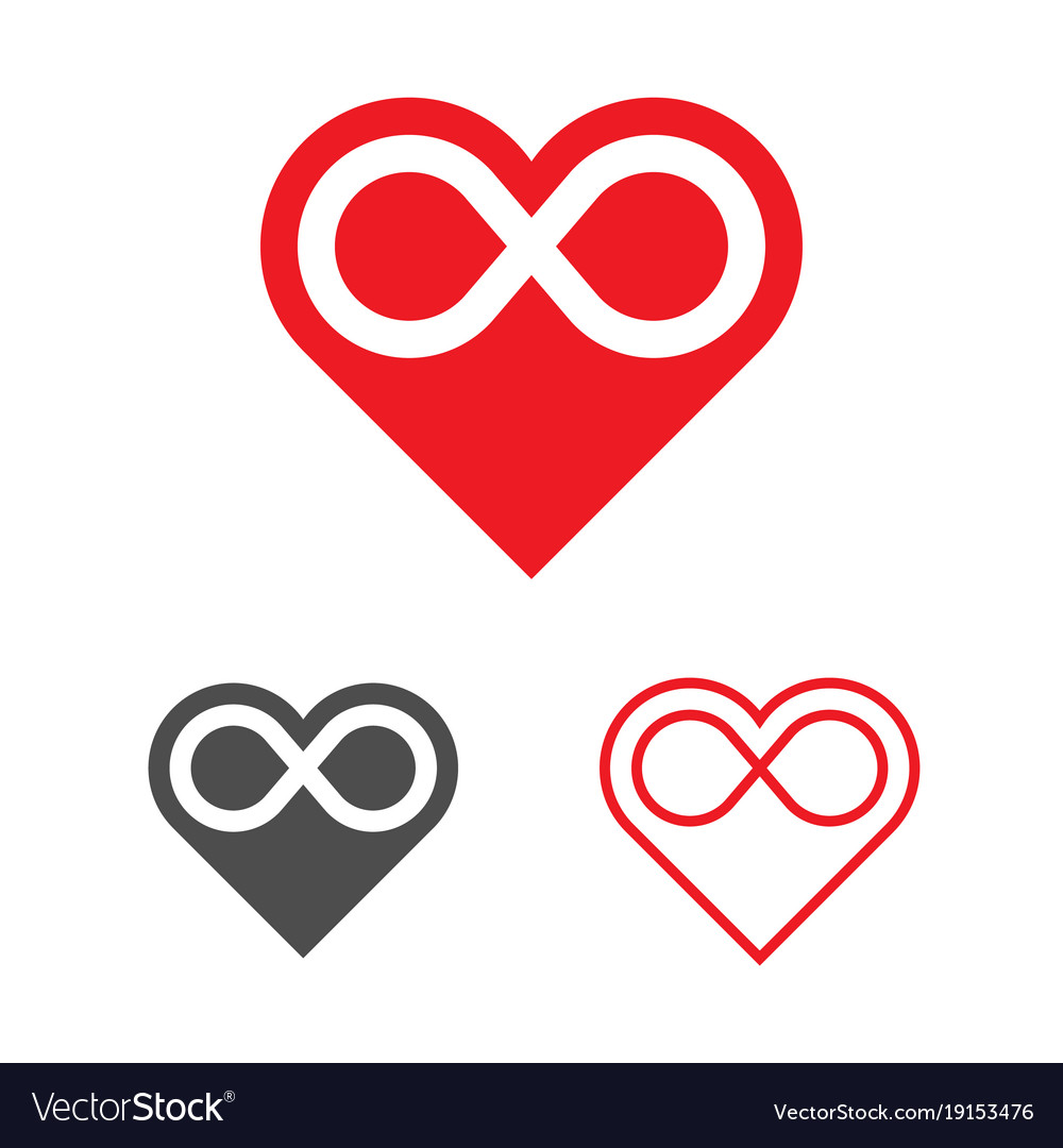 Forever Love Logo Template Heart Infinity Vector Image