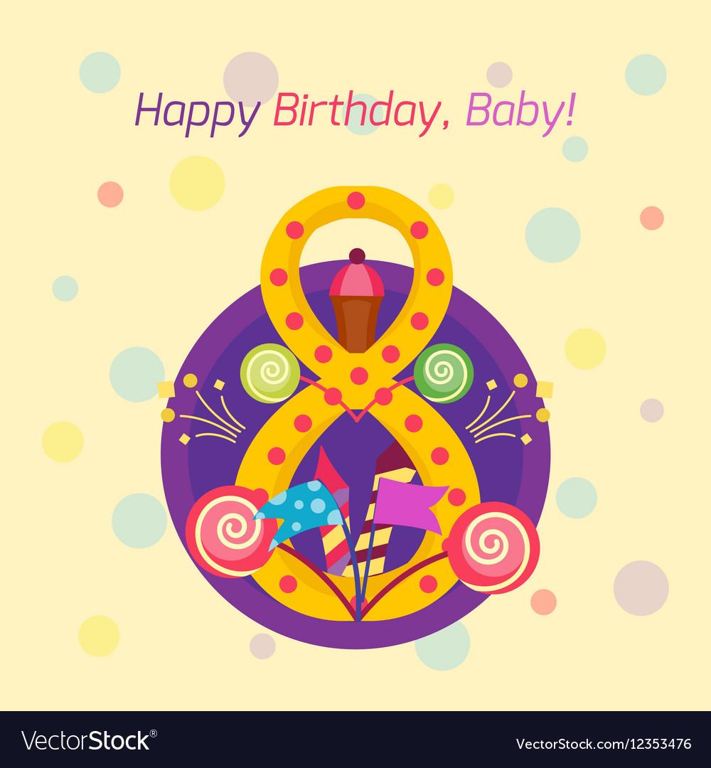 Happy birthday badge icon
