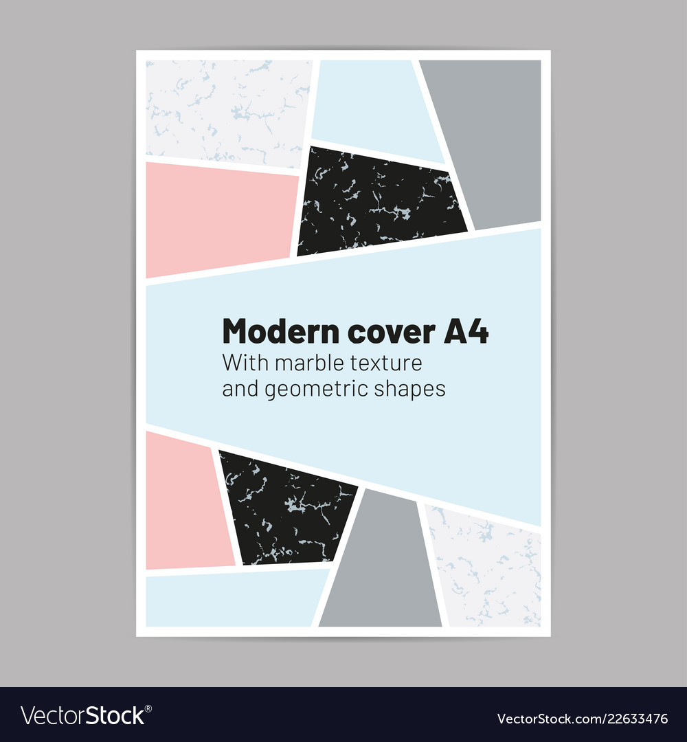 Modern cover a4 with marble texture