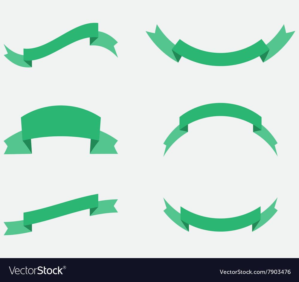 Ribbon decoration green color