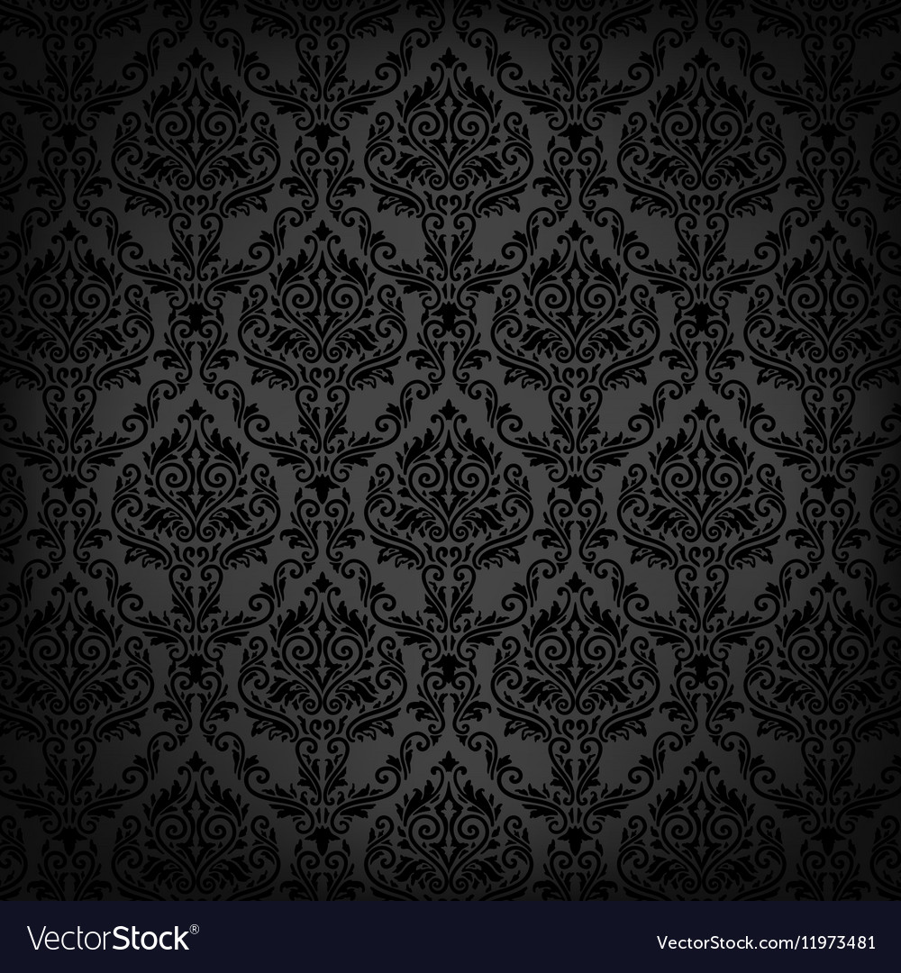Black Floral Background Royalty Free Vector Image