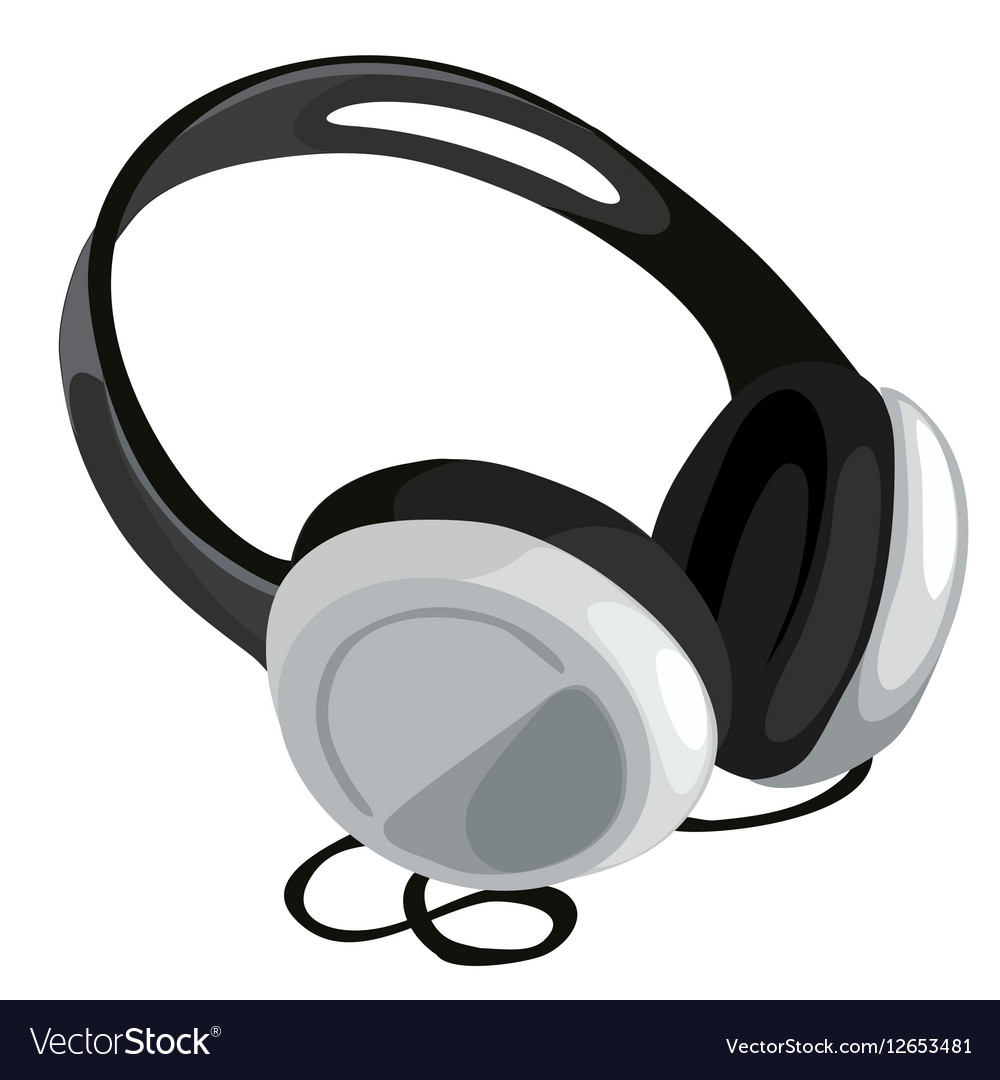 Classic headphone on white background