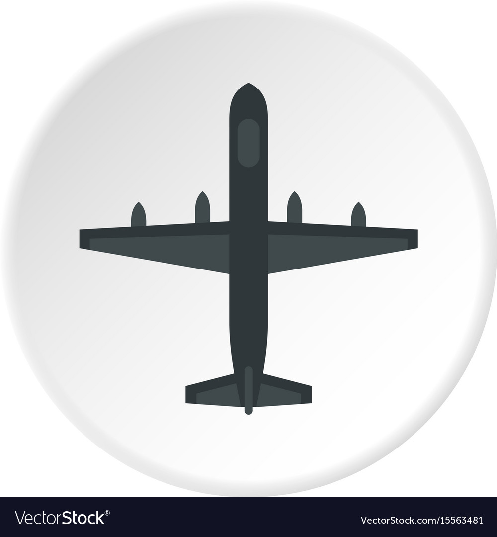 Large aircraft with missiles icon circle