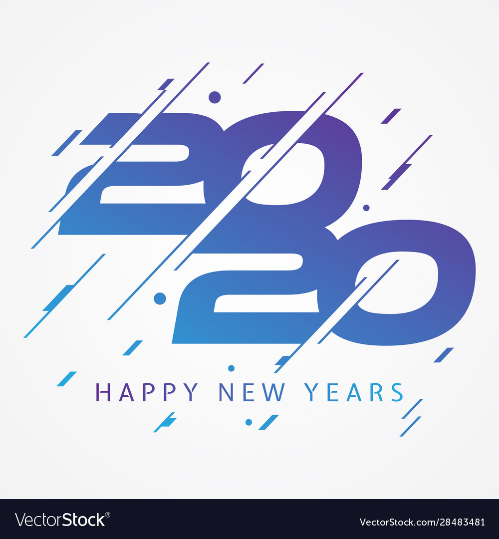 Modern and colorful design 2020 happy new year