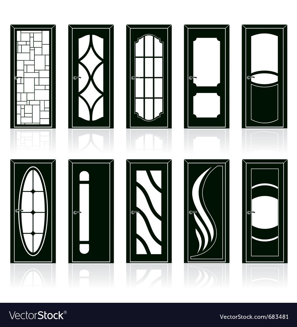 Front Doors Royalty Free Vector Image