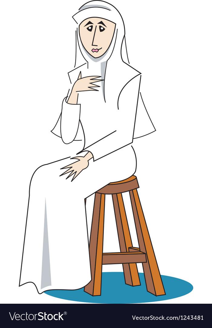 Nun vector image