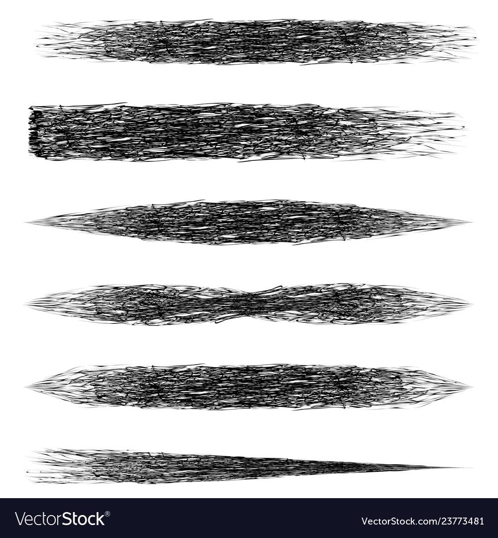 Set brush mascara makeup brush strokes