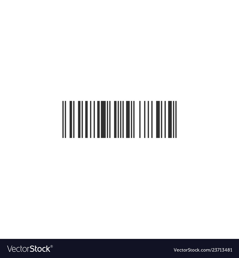 Simple black barcode icon isolated on white