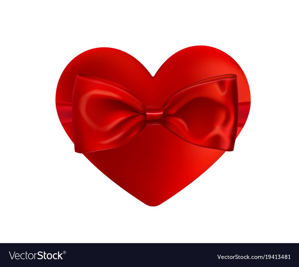 Valentines day greeting card realistic 3d red