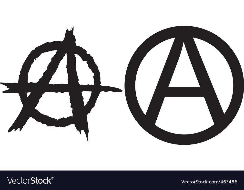 Anarchy Symbols Royalty Free Vector Image Vectorstock