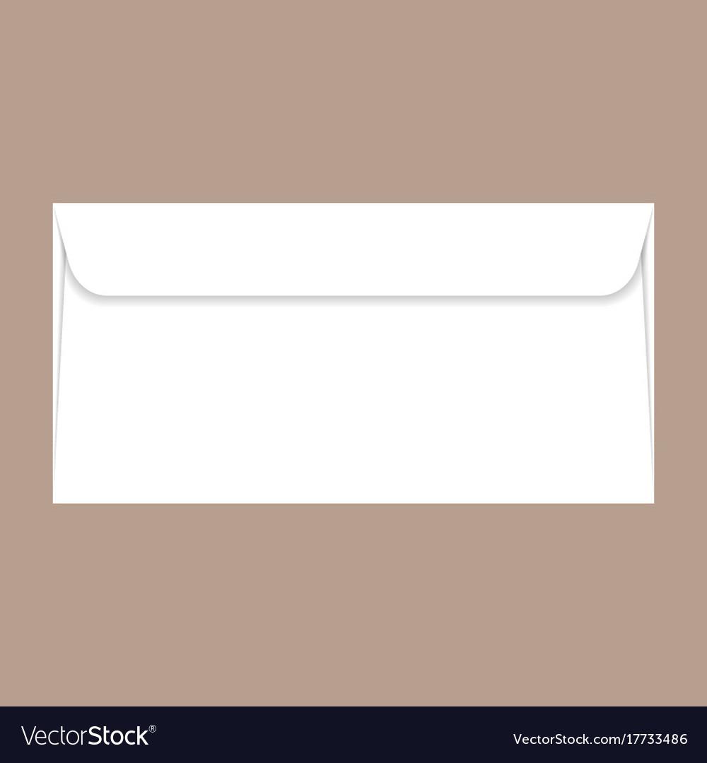 Back side dl envelope mockup realistic style Vector Image