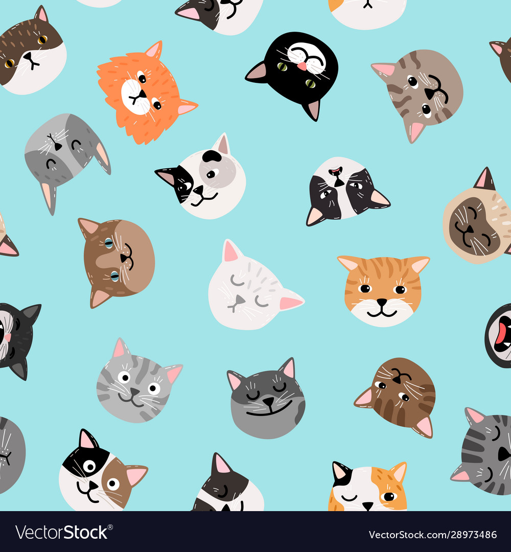 Cats characters pattern