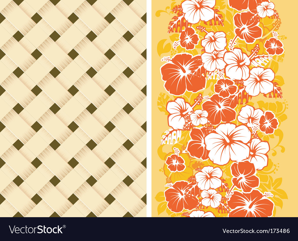 Hawaiian Floral Background Royalty Free Vector Image