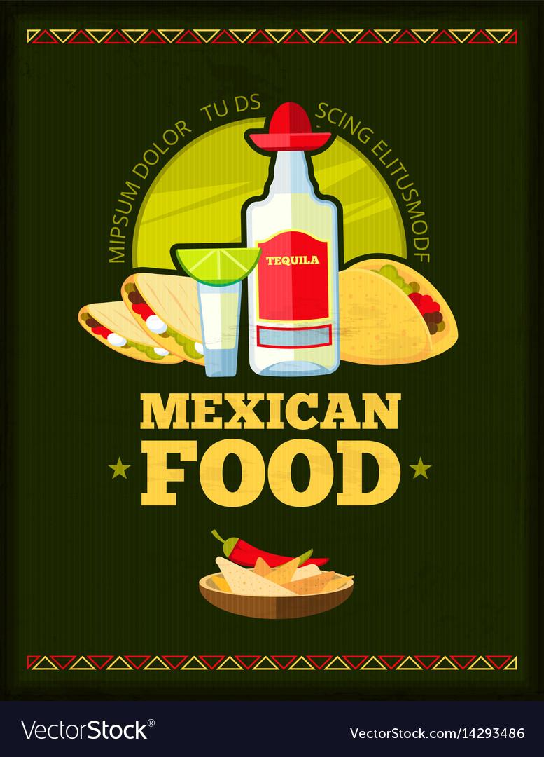 mexican restaurant menu design royalty free vector image