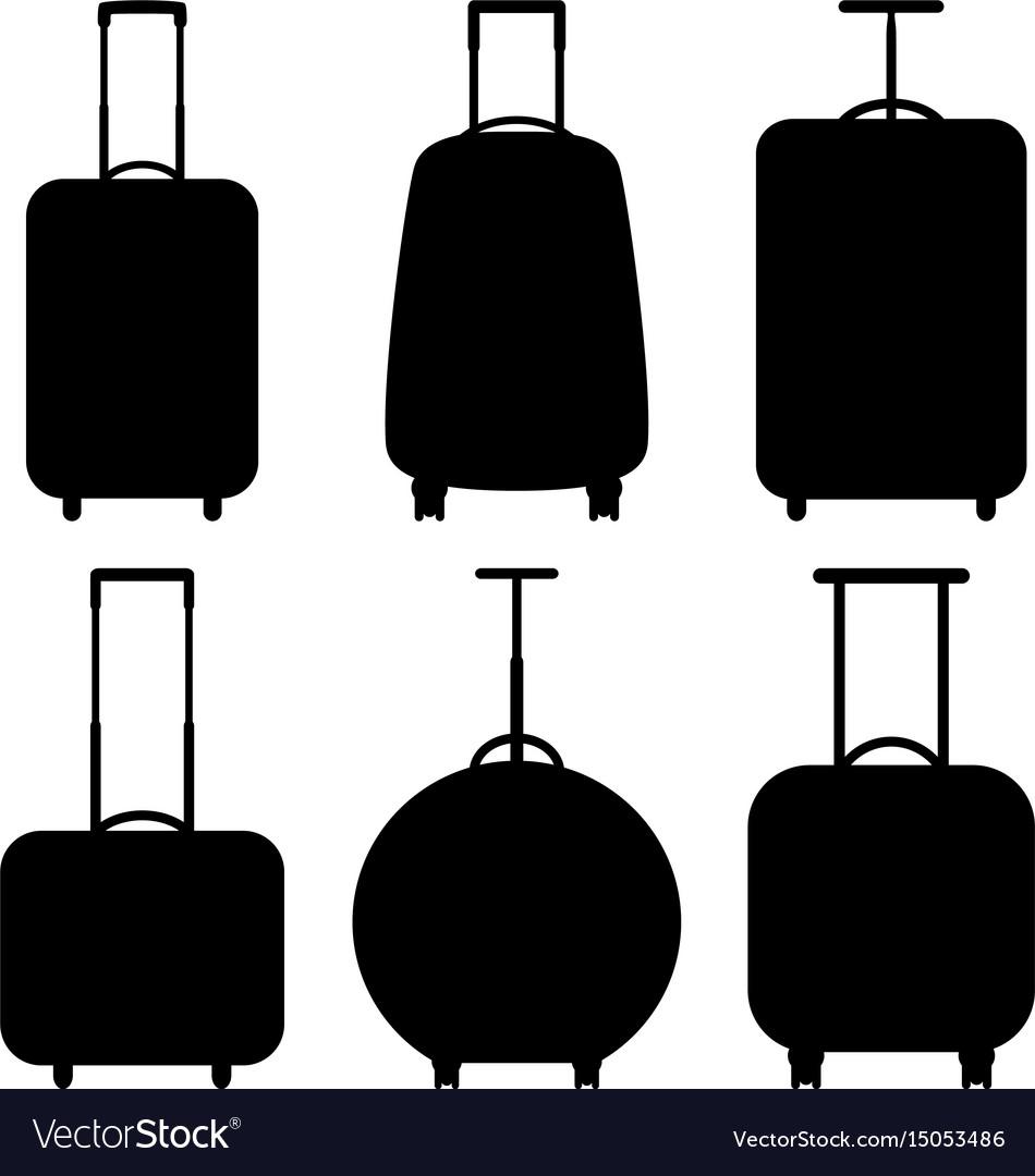 Set of suitcase icons