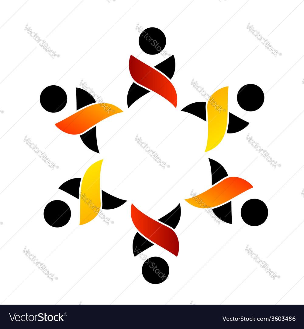 Teamwork support logo or design element