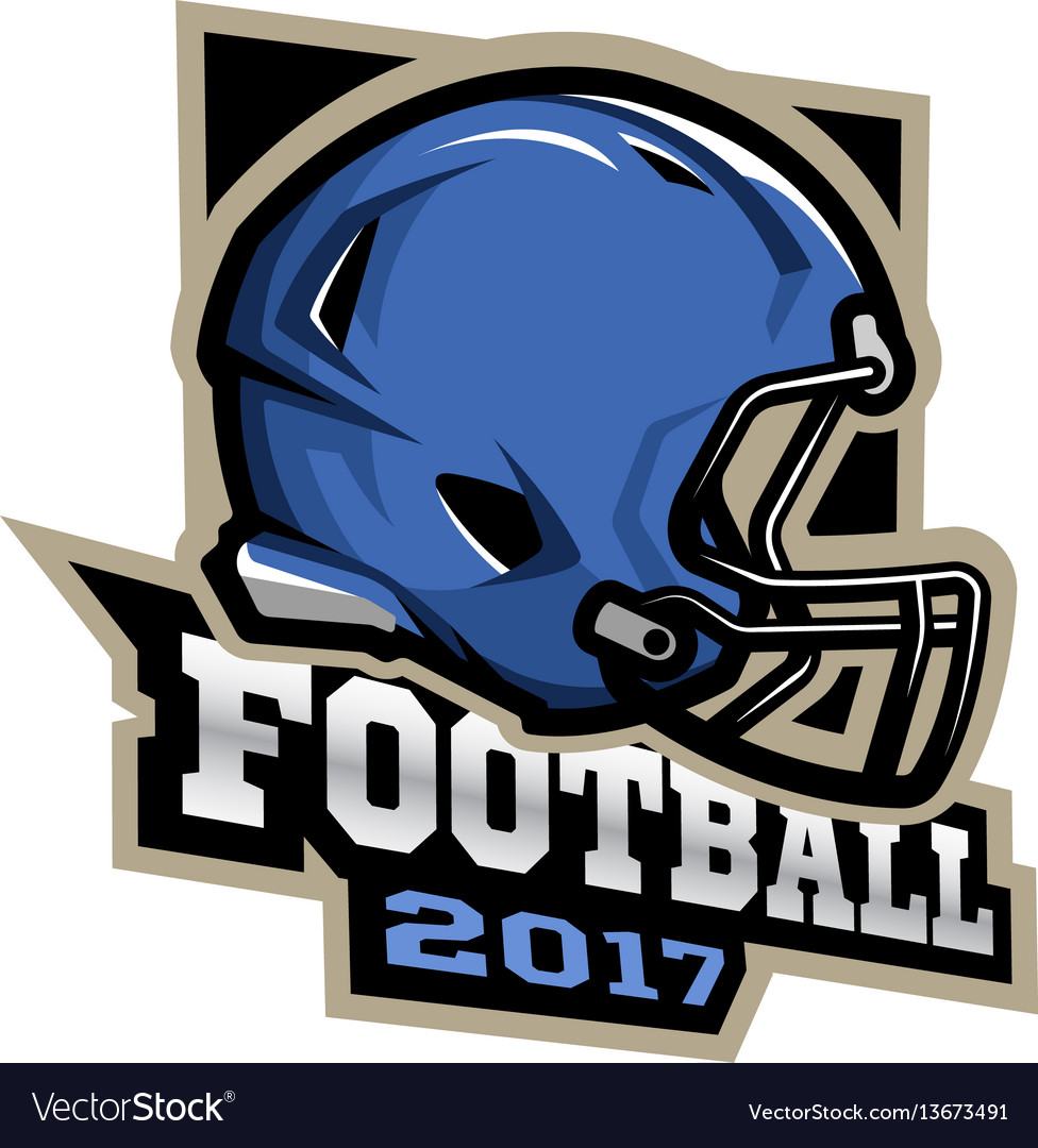 American football games 2017 emblem vector image