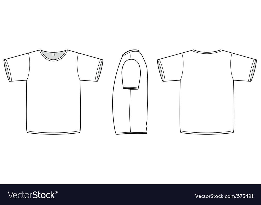 Basic unisex tshirt template Royalty Free Vector Image