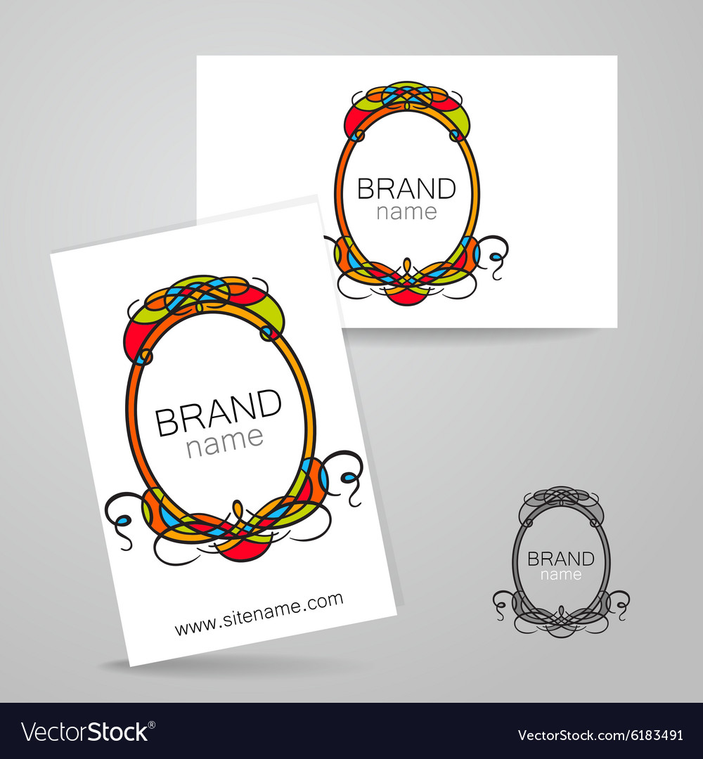 Brand name frame logo Royalty Free Vector Image