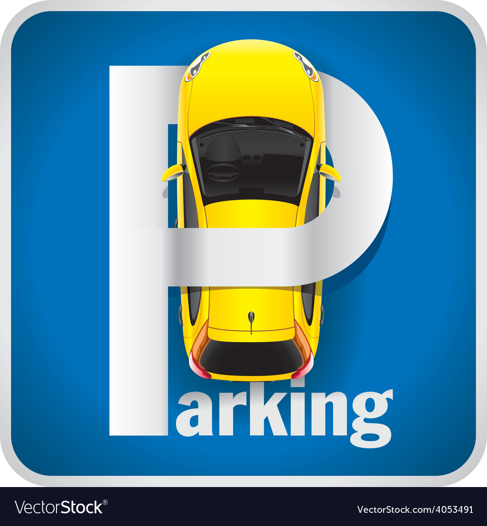 Car Parking Sign vector image