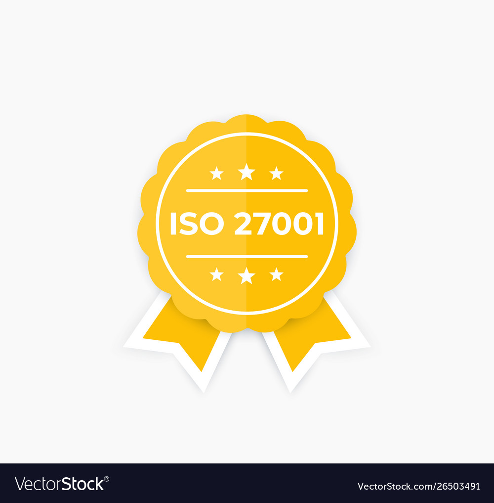 Iso 27001 information security standard badge