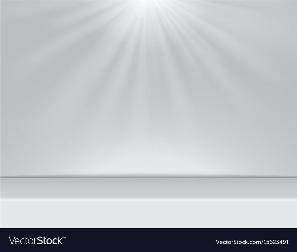 Light white studio room background with lighting