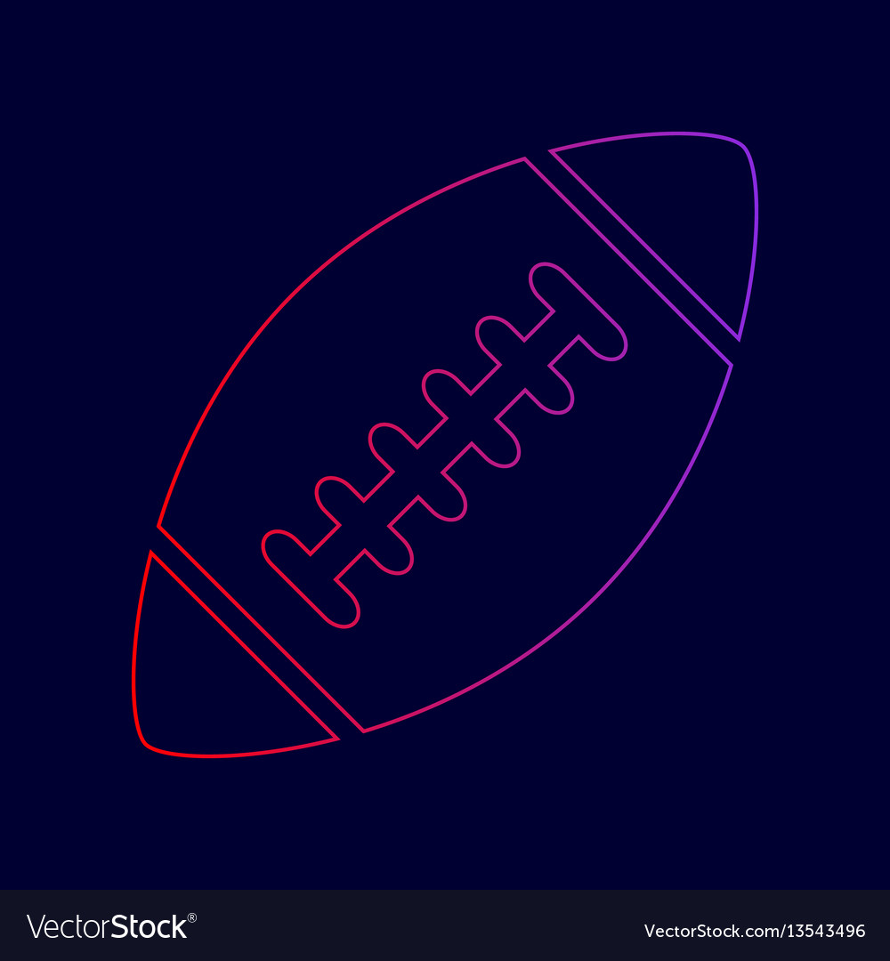 American simple football ball line icon vector image