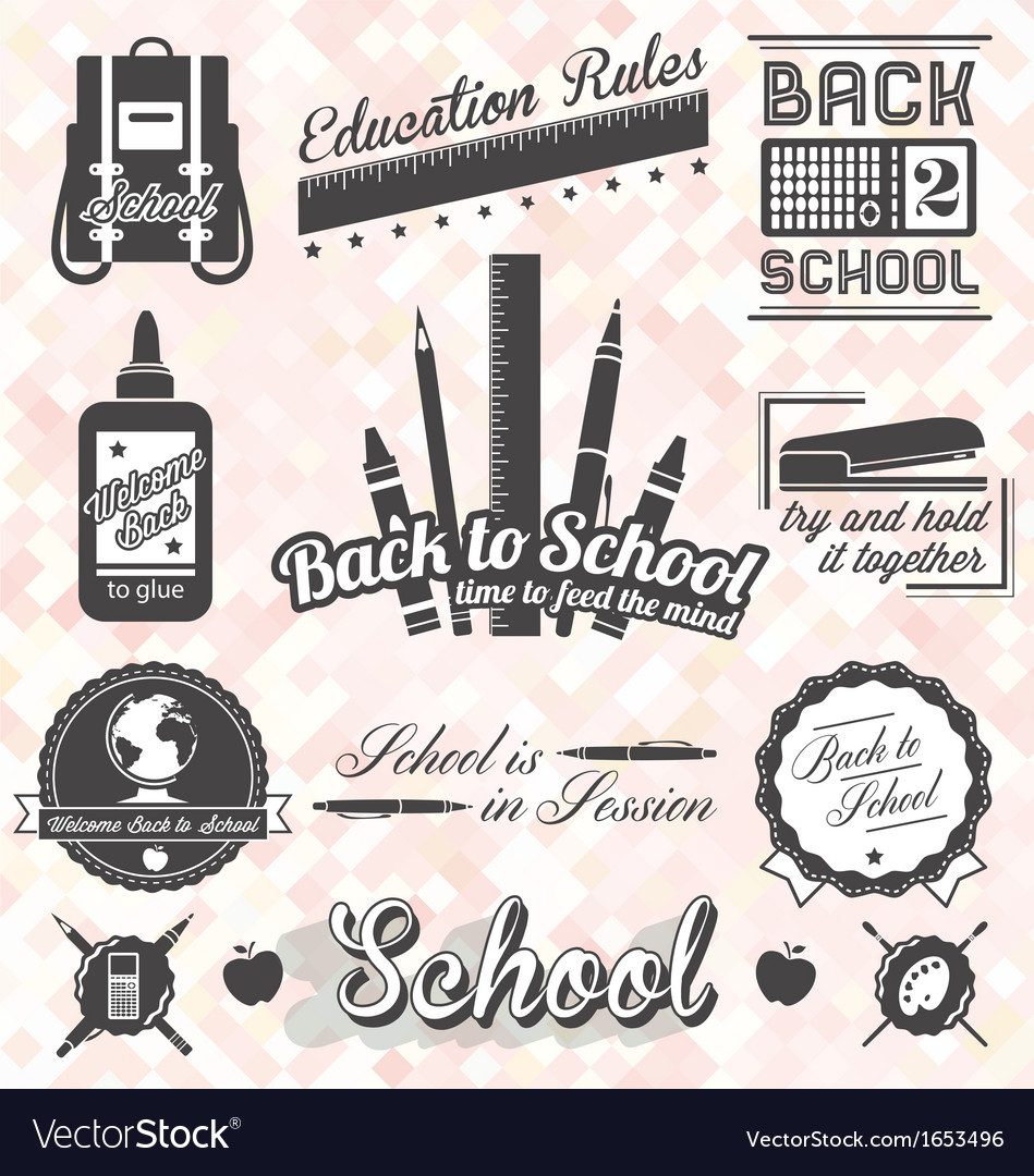 Back to School Labels and Icons