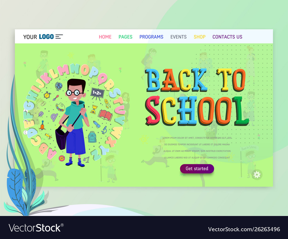 Concept schoolwork for website or web page